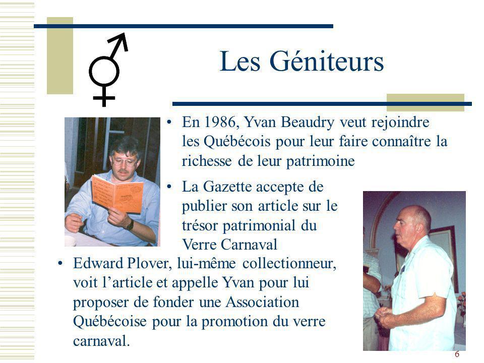 Les Géniteurs En 1986, Yvan Beaudry veut rejoindre les Québécois pour leur faire connaître la richesse de leur patrimoine.