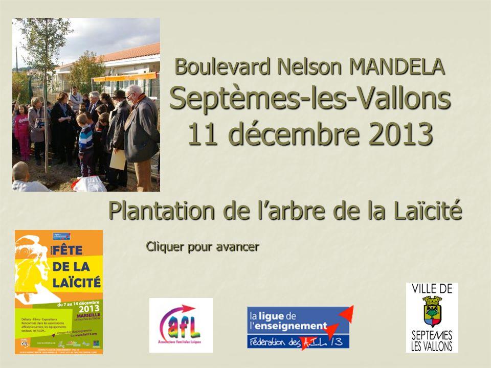 Boulevard Nelson MANDELA Septèmes-les-Vallons 11 décembre 2013