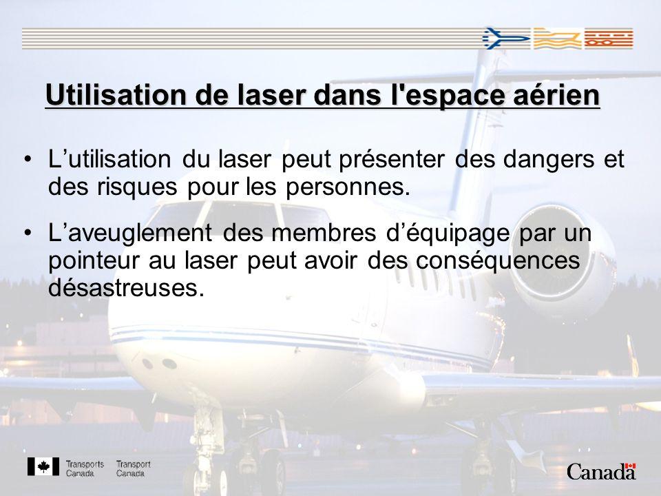 Utilisation de laser dans l espace aérien