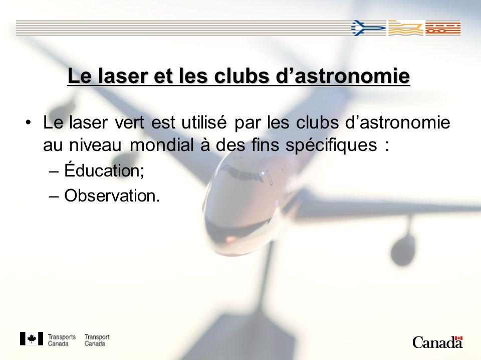 Le laser et les clubs d'astronomie