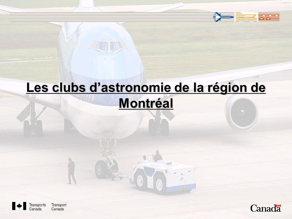 Les clubs d'astronomie de la région de Montréal