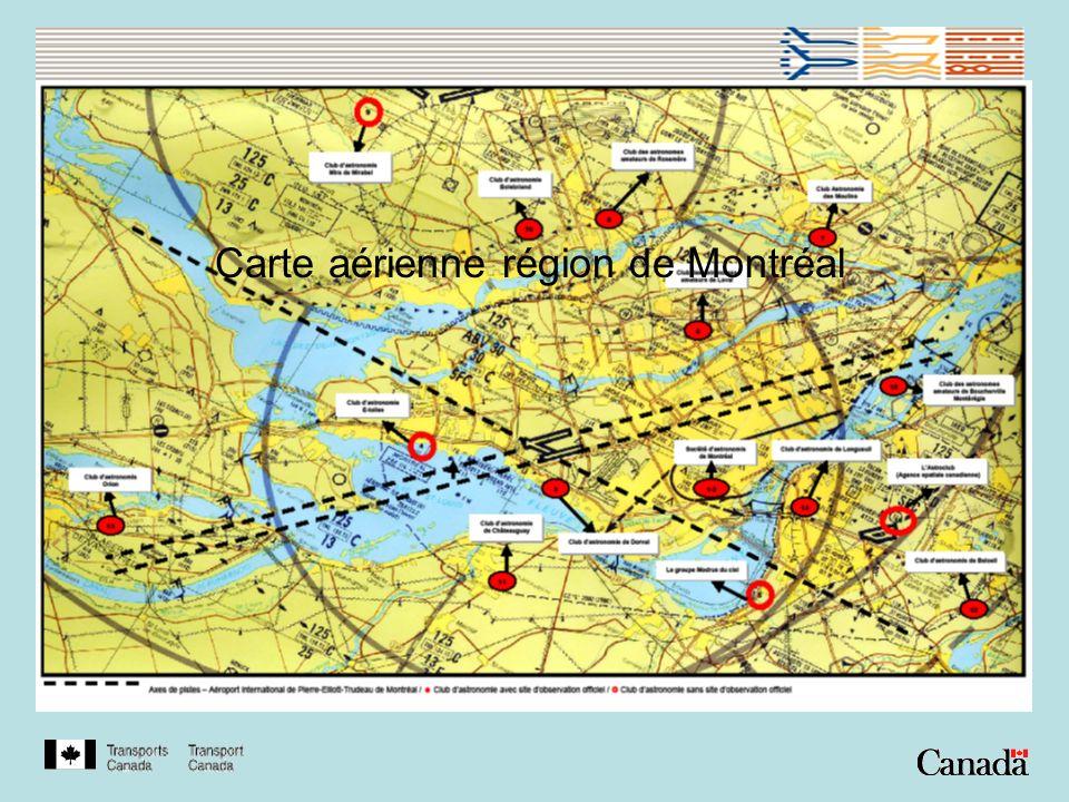 Carte aérienne région de Montréal