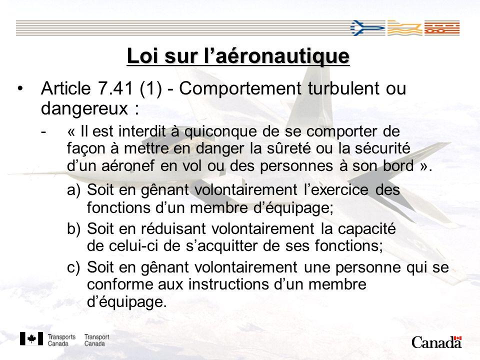 Loi sur l'aéronautique
