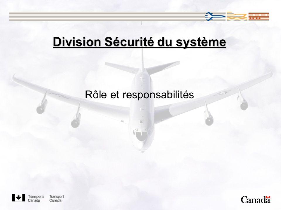Division Sécurité du système