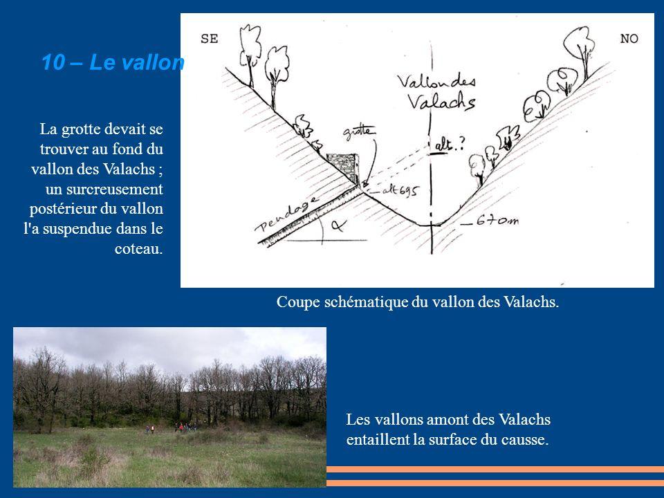 Coupe schématique du vallon des Valachs.