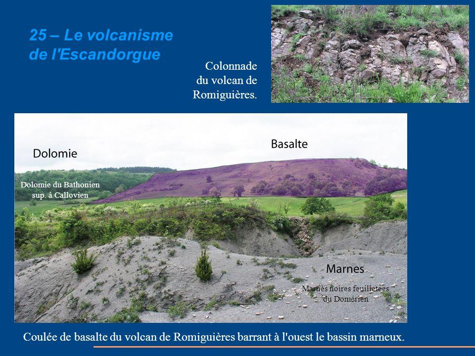 25 – Le volcanisme de l Escandorgue