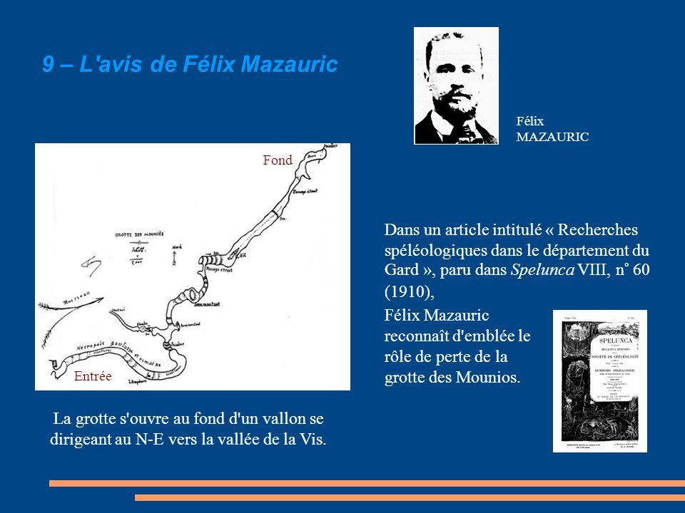 9 – L avis de Félix Mazauric