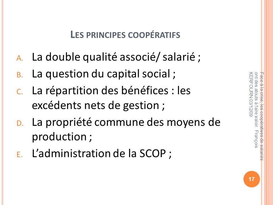 Les principes coopératifs