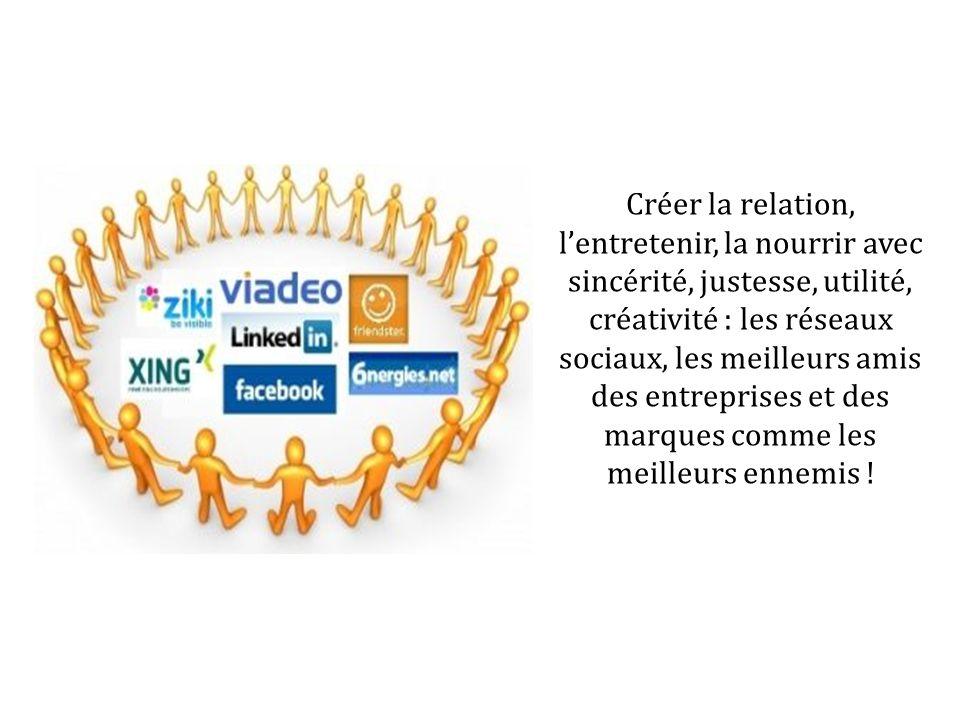 Créer la relation, l'entretenir, la nourrir avec sincérité, justesse, utilité, créativité : les réseaux sociaux, les meilleurs amis des entreprises et des marques comme les meilleurs ennemis !