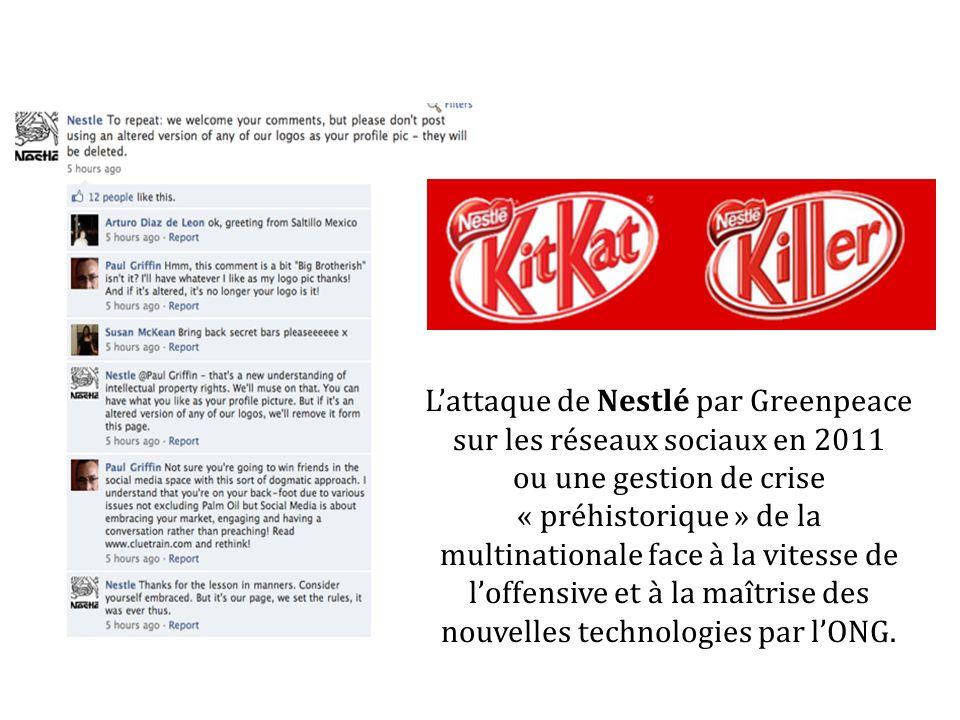 L'attaque de Nestlé par Greenpeace sur les réseaux sociaux en 2011