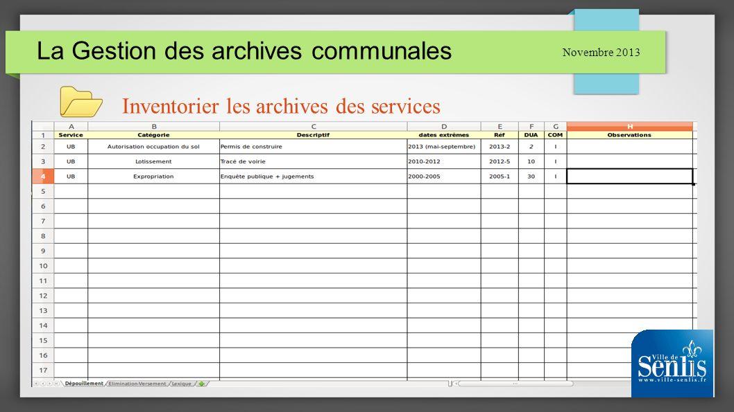 La Gestion des archives communales