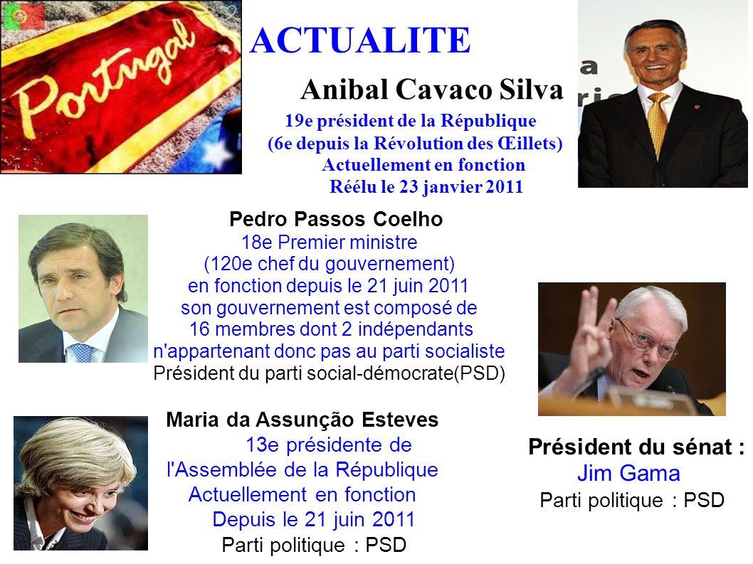 ACTUALITE Anibal Cavaco Silva 19e président de la République