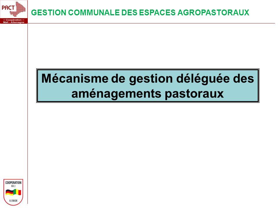 Mécanisme de gestion déléguée des aménagements pastoraux
