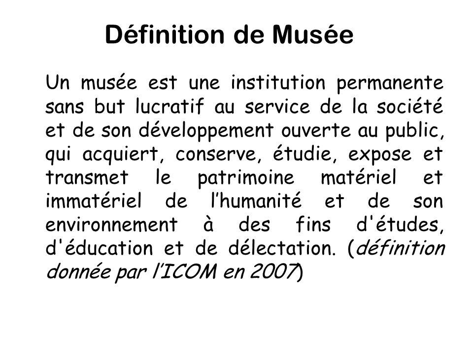 Définition de Musée
