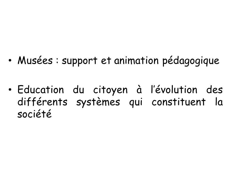 Musées : support et animation pédagogique
