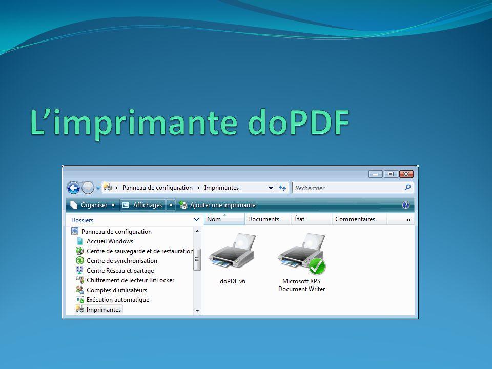 L'imprimante doPDF