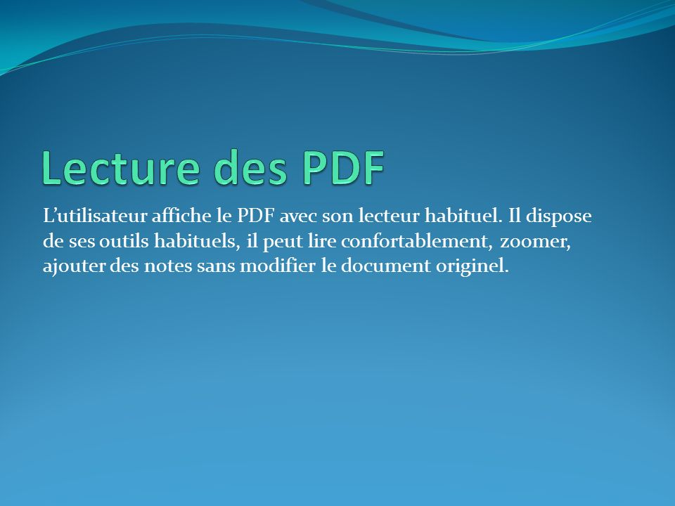 Lecture des PDF