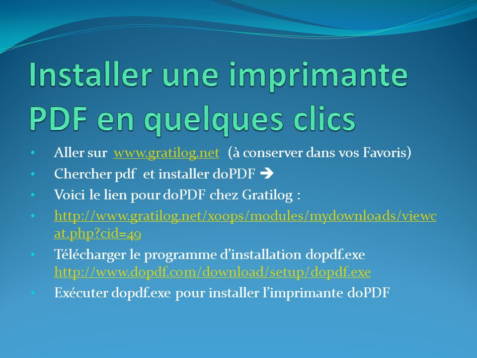 Installer une imprimante PDF en quelques clics