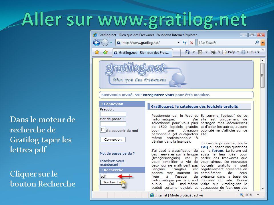 Aller sur www.gratilog.net