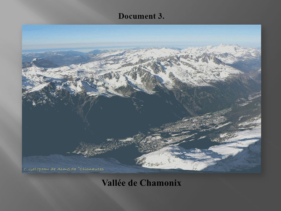 Document 3. Vallée de Chamonix
