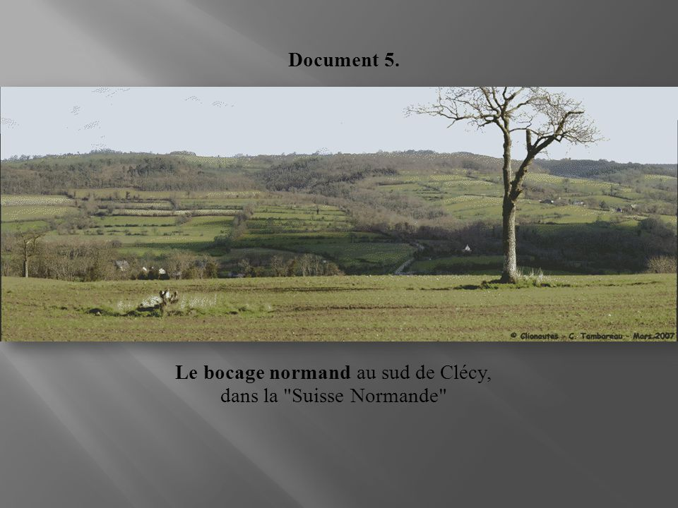 Le bocage normand au sud de Clécy, dans la Suisse Normande