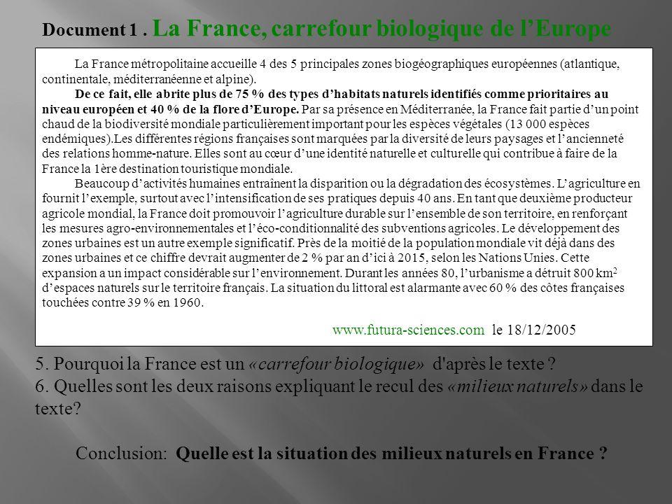 Conclusion: Quelle est la situation des milieux naturels en France