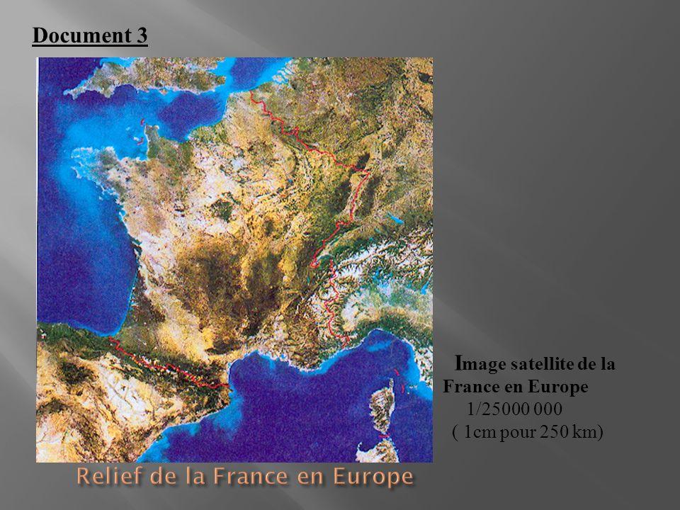 Relief de la France en Europe