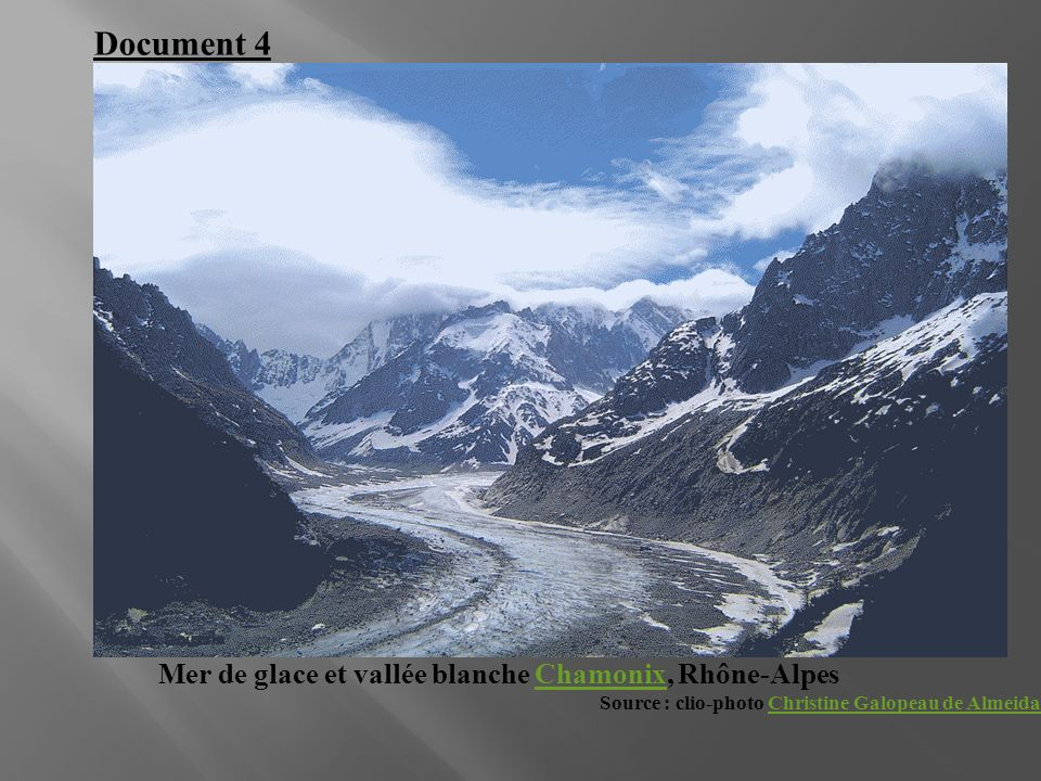 Document 4 Mer de glace et vallée blanche Chamonix, Rhône-Alpes