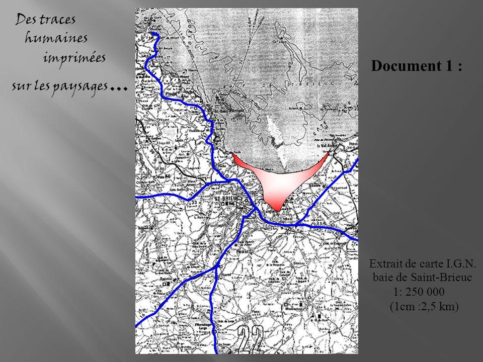 Extrait de carte I.G.N. baie de Saint-Brieuc