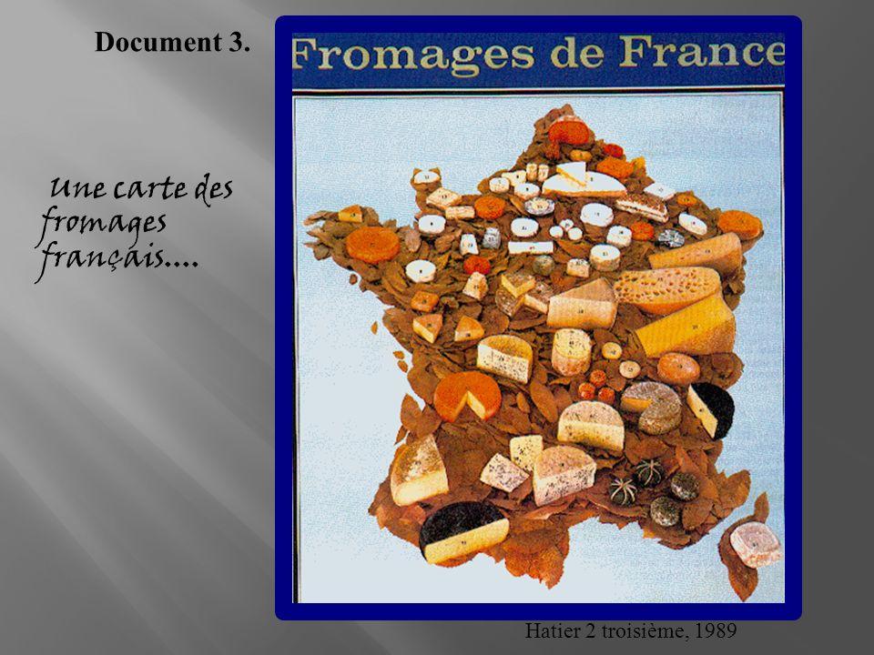 Une carte des fromages français....