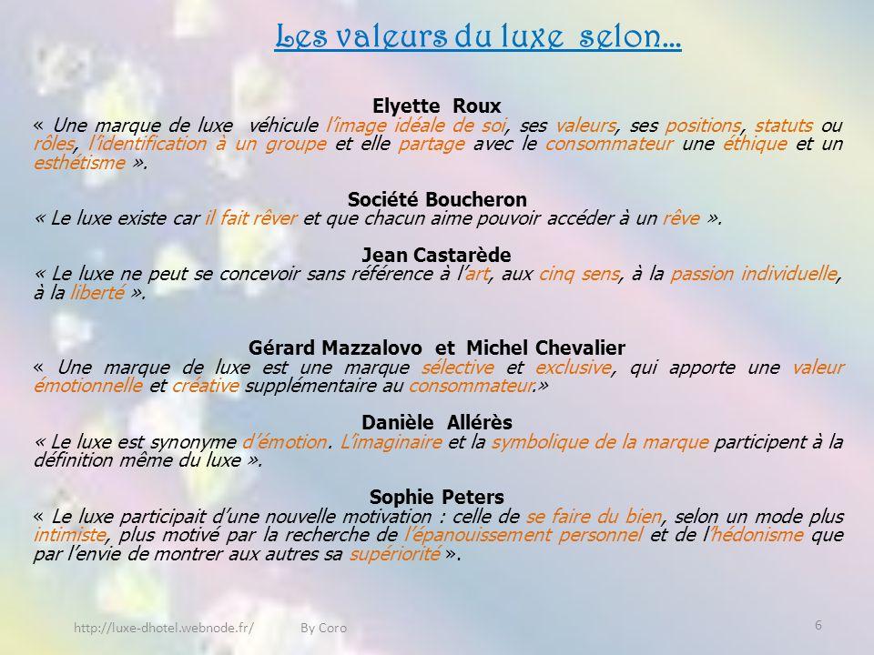 Les valeurs du luxe selon… Gérard Mazzalovo et Michel Chevalier