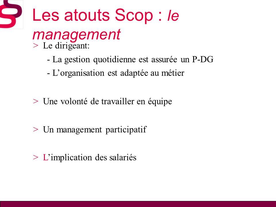 Les atouts Scop : le management