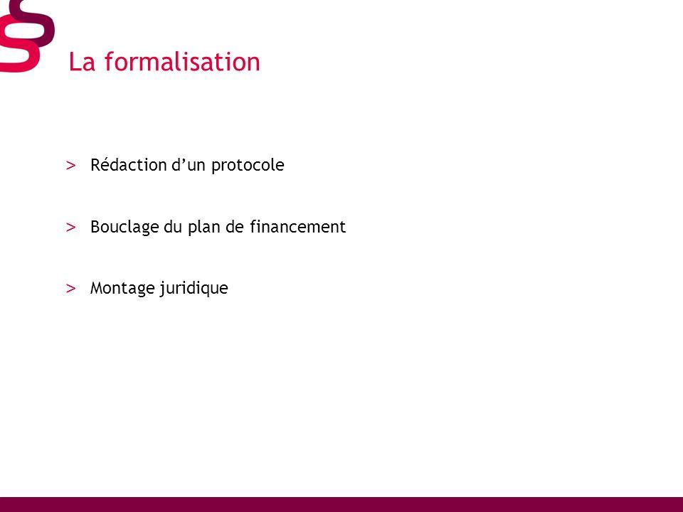 La formalisation Rédaction d'un protocole