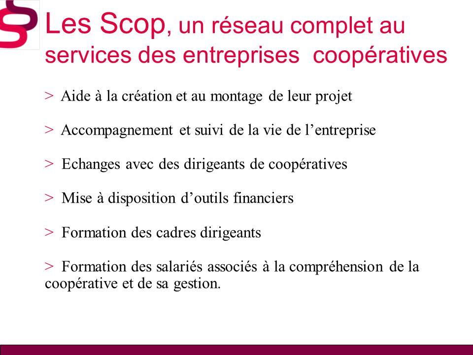 Les Scop, un réseau complet au services des entreprises coopératives