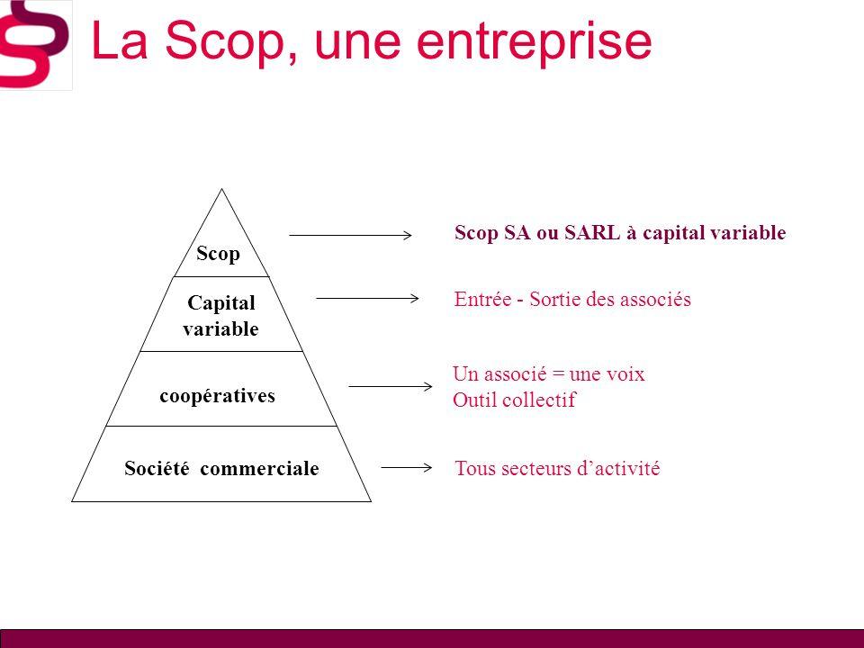 La Scop, une entreprise Scop Scop SA ou SARL à capital variable