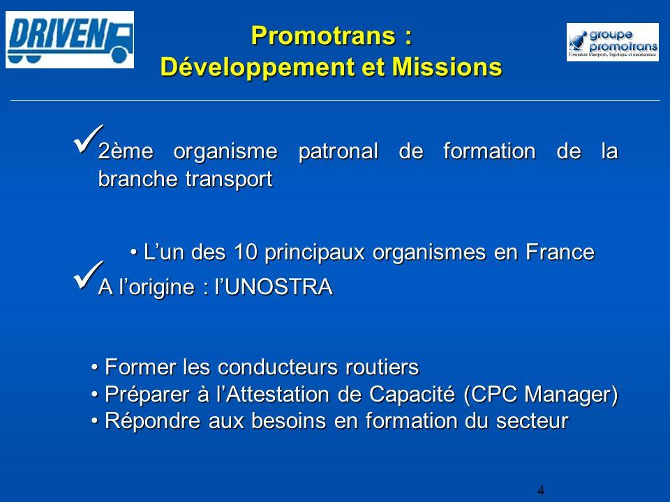 Promotrans : Développement et Missions