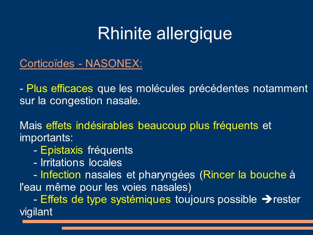 Rhinite allergique Corticoïdes - NASONEX: