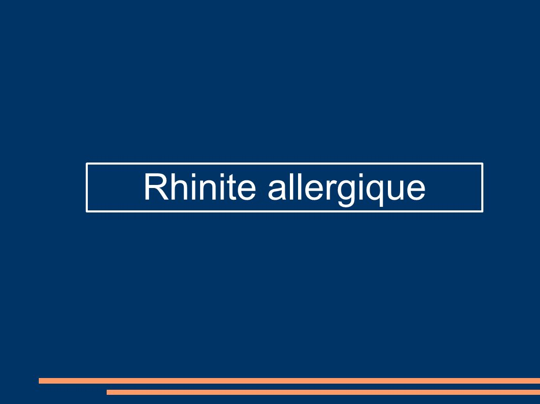 Rhinite allergique