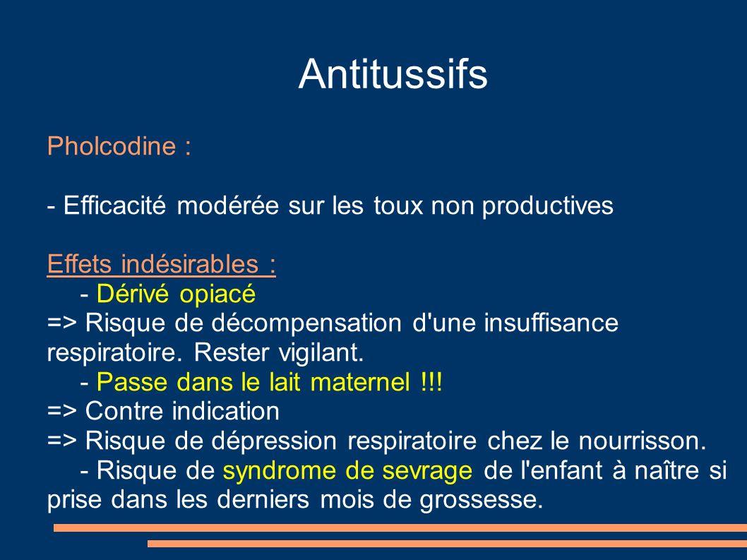 Antitussifs Pholcodine :