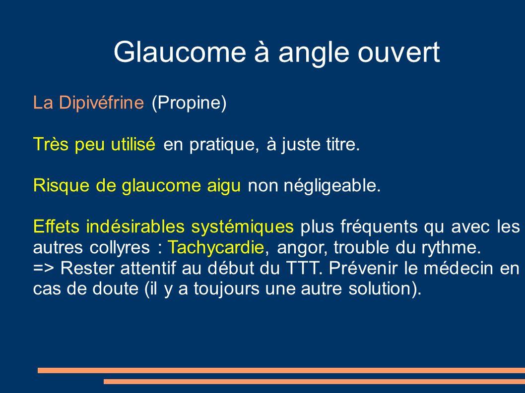 Glaucome à angle ouvert