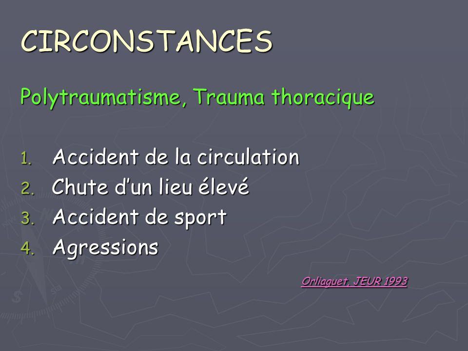 CIRCONSTANCES Polytraumatisme, Trauma thoracique
