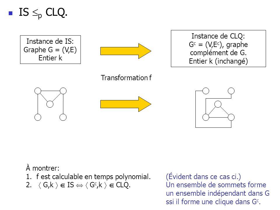 Gc = (V,Ec), graphe complément de G.