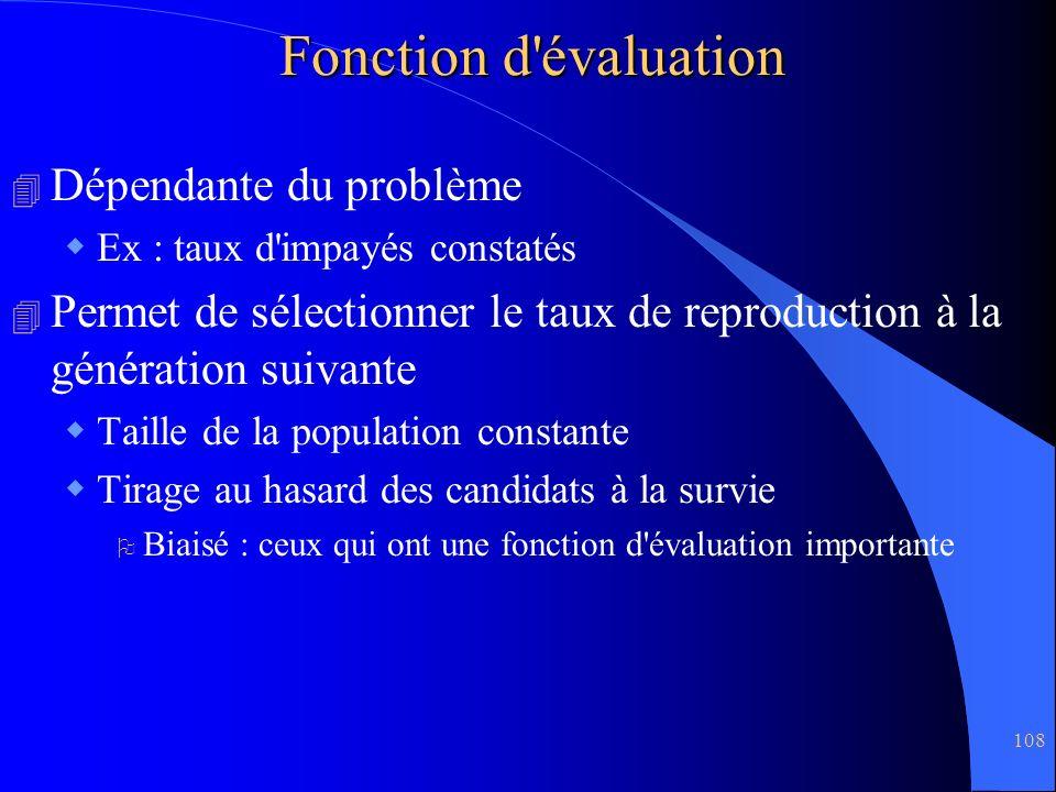 Fonction d évaluation Dépendante du problème