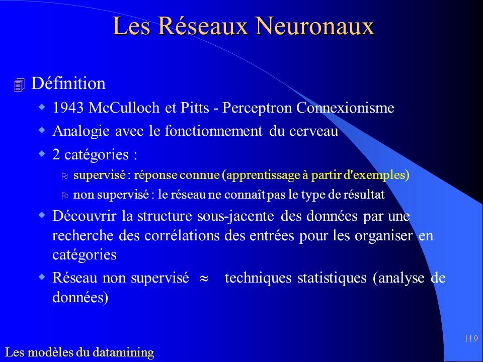 Les Réseaux Neuronaux Définition