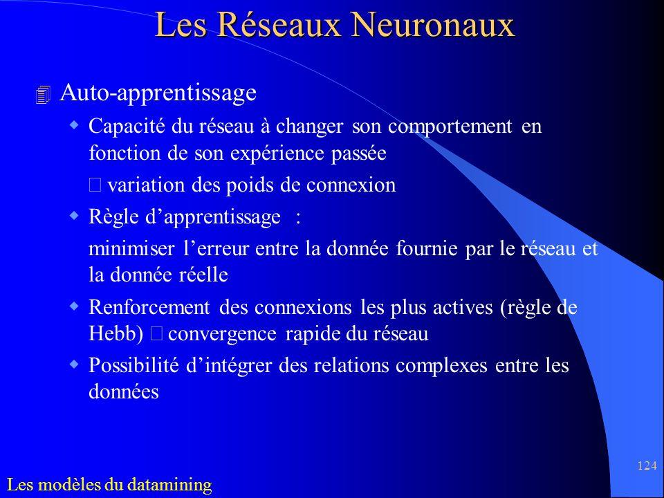 Les Réseaux Neuronaux Auto-apprentissage