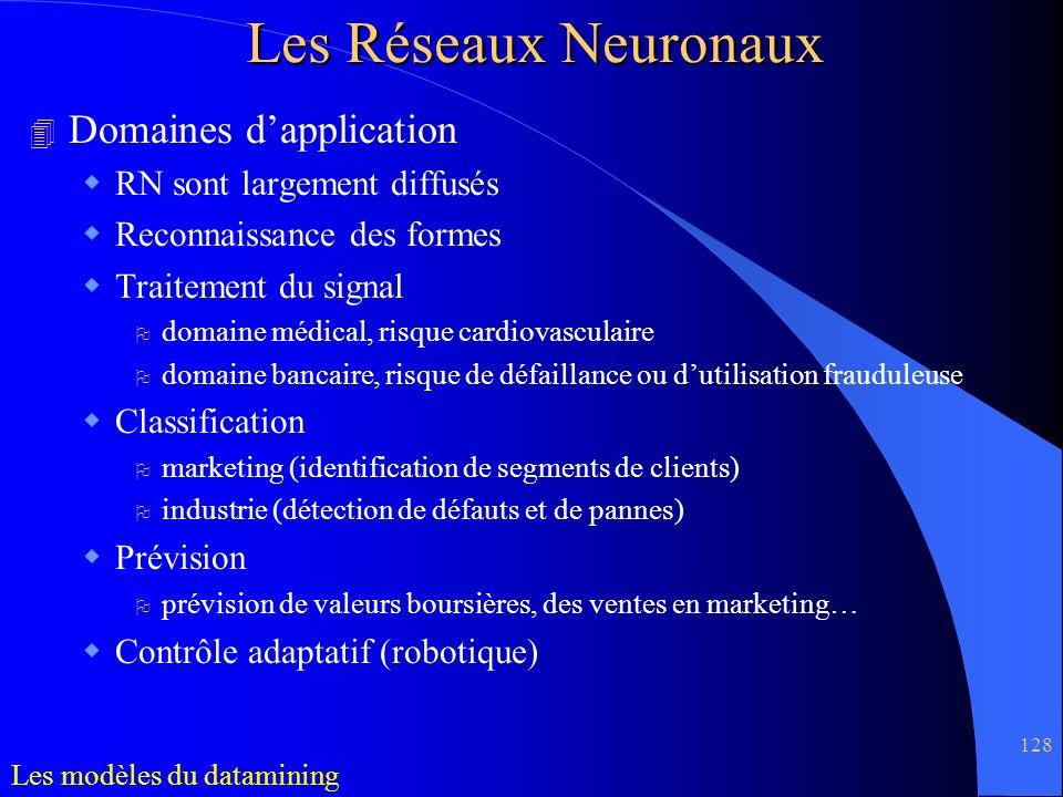 Les Réseaux Neuronaux Domaines d'application