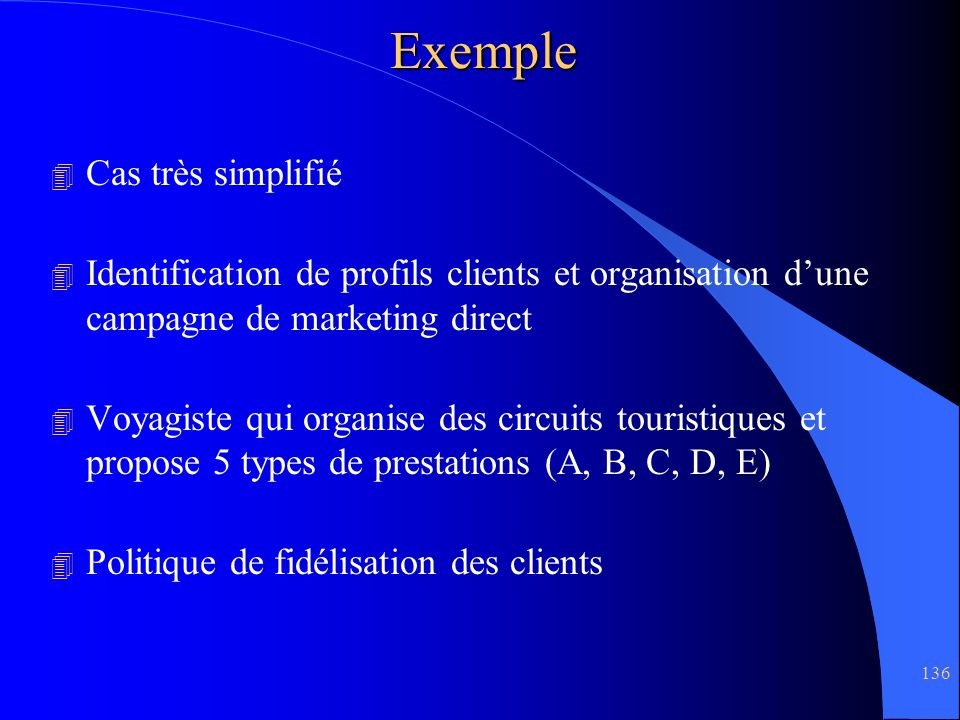 Exemple Cas très simplifié