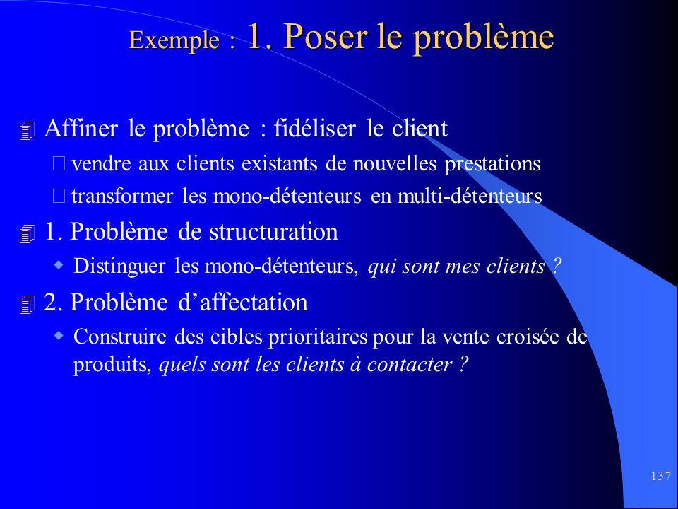 Exemple : 1. Poser le problème