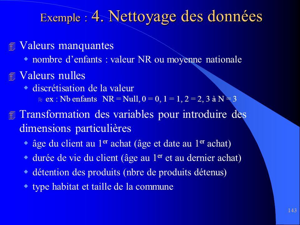Exemple : 4. Nettoyage des données