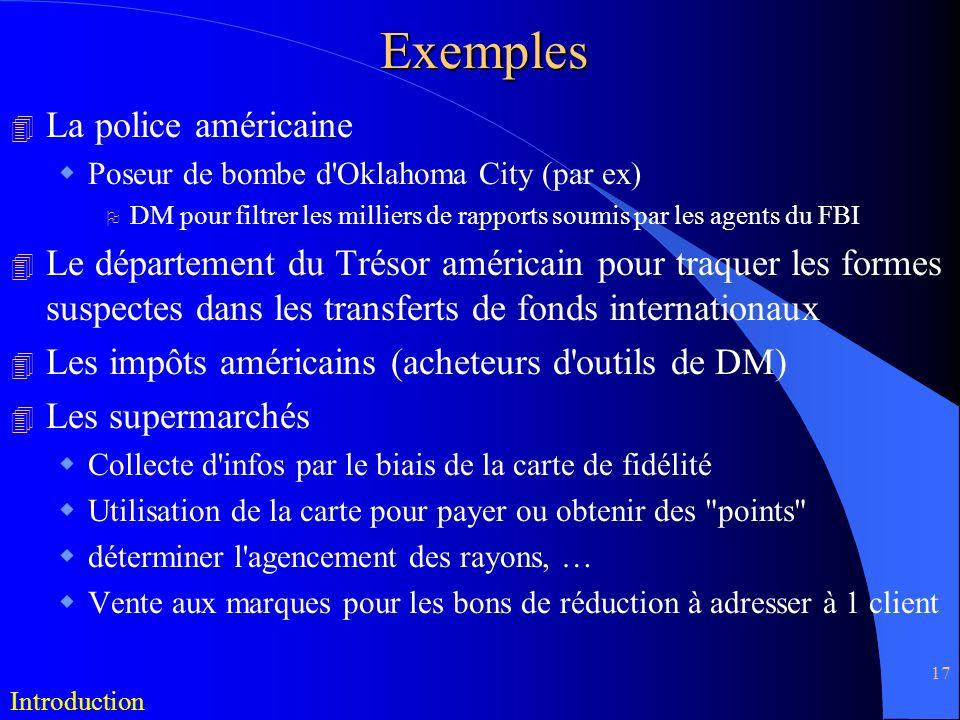 Exemples La police américaine